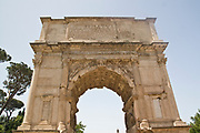 Italy, Rome, Arch of Titus, (Titus gate or Arcus Titi) – the conquering of Jerusalem.