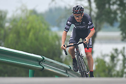 September 15, 2017 - Chenghu City, United States - Robbie Hucker from Isowhey Sports Swisswellness team during the fourth stage of the 2017 Tour of China 1, the 3.3 km Chenghu Jintang individual time trial. .On Friday, 15 September 2017, in Jintang County, Chenghu City,  Sichuan Province, China. (Credit Image: © Artur Widak/NurPhoto via ZUMA Press)