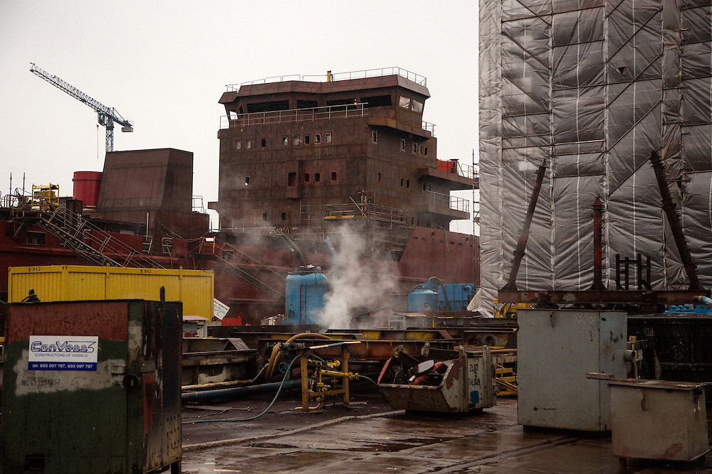 Construction yard.<br /> <br /> Gdansk and Remontowa Shipyards