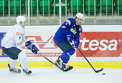Miha Stebih and Anze Kopitar during practice session of Slovenian National Ice Hockey Team prior to the IIHF World Championship in Ostrava (CZE), on April 21, 2015 in Hala Tivoli, Ljubljana, Slovenia. Photo by Vid Ponikvar / Sportida