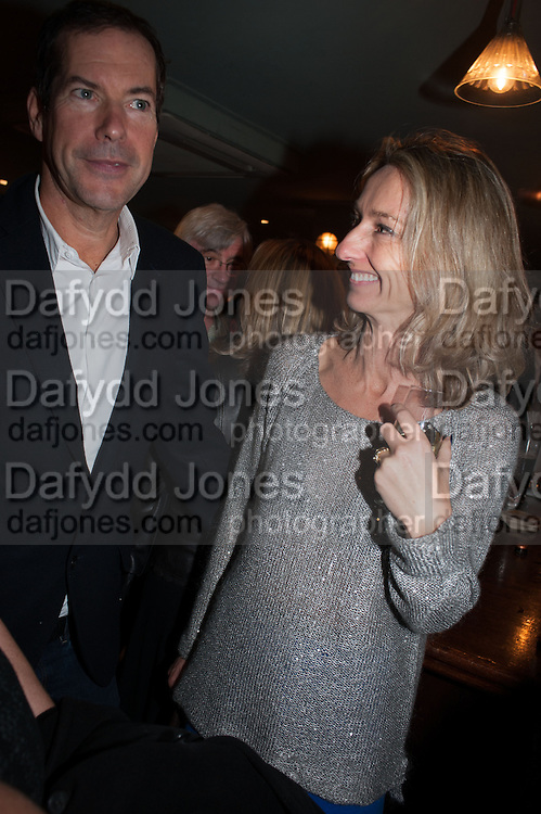 SEBASTIAN SCOTT; DAISY WAUGH, Party to celebrate the publication of 'Winter Games' by Rachel Johnson. the Draft House, Tower Bridge. London. 1 November 2012.