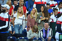 Tennis players wives supporting the french team on day one at the Davis Cup semi final against Spain, in Lille, Stade Pierre Mauroy, France on september, 14, 2018. Photo by Corinne Dubreuil/ABACAPRESS.COM