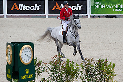Ludger Beerbaum, (GER), Chiara 222 - Team & Individual Competition Jumping Speed - Alltech FEI World Equestrian Games™ 2014 - Normandy, France.<br /> © Hippo Foto Team - Leanjo De Koster<br /> 02-09-14