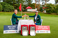 20-07-2019 Pictures of the final day of the Zwitserleven Dutch Junior Open at the Toxandria Golf Club in The Netherlands.<br /> Koen Kouwenaar and Sofia Garcia, winners DJO 2019