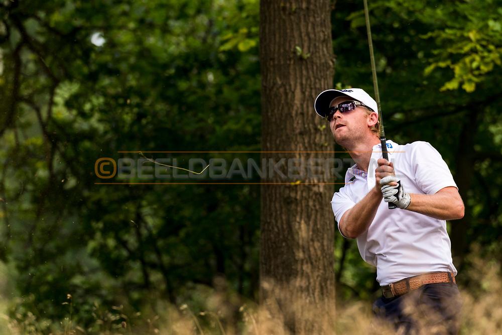 21-08-2015 -  Foto van Jurrian van der Vaart tijdens de derde ronde van het Nationaal Open 2015 op de Hilversumsche Golf Club in Hilversum, Nederland.