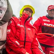 Leg 8 from Itajai to Newport, day 10 on board MAPFRE, Tamara Echegoyen and Xabi Fernandez. 01 May, 2018.