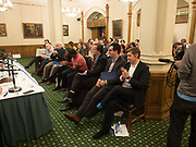 Ann Coffey MP hosts a reception and panel debate  on behalf of Harry's Grooming to launch the Masculinity Report. Houses of Parliament. 16 November 2017.