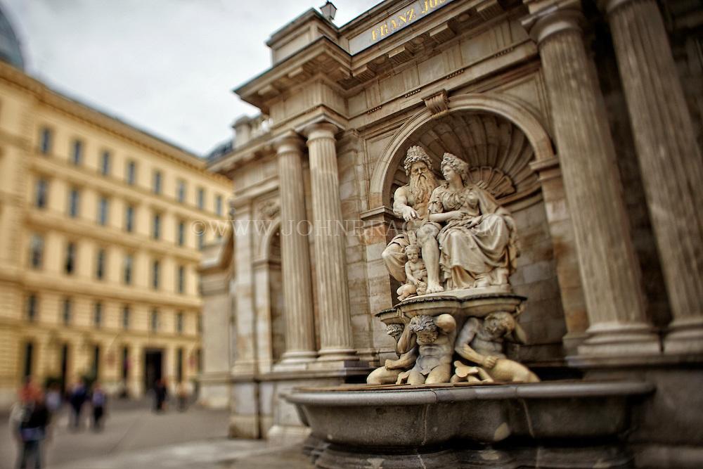 View of Emperor Franz Josef I and Empress Elisabeth in the Franz Josef I Monument, Albertina Square, Vienna, Austria (Horizontal)