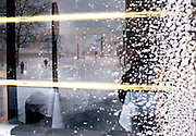 Feb 10,2010 - Herndon, Va USA - Blizzard conditions are relected in a restaurant window in historic Herndon, Virginia on Wednesday.(Credit Image: ©Pete Marovich/ZUMA Press)