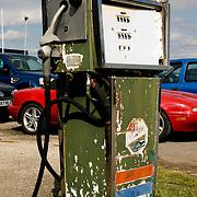 Vehicles at gas station