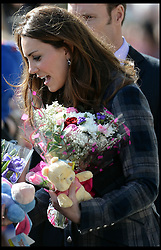 The Duke and The Duchess of Cambridge visit the Donald Dewar Leisure Centre, Glasgow, Scotland,Thursday March 4 April, 2013. Photo By Andrew Parsons / i-lmages.