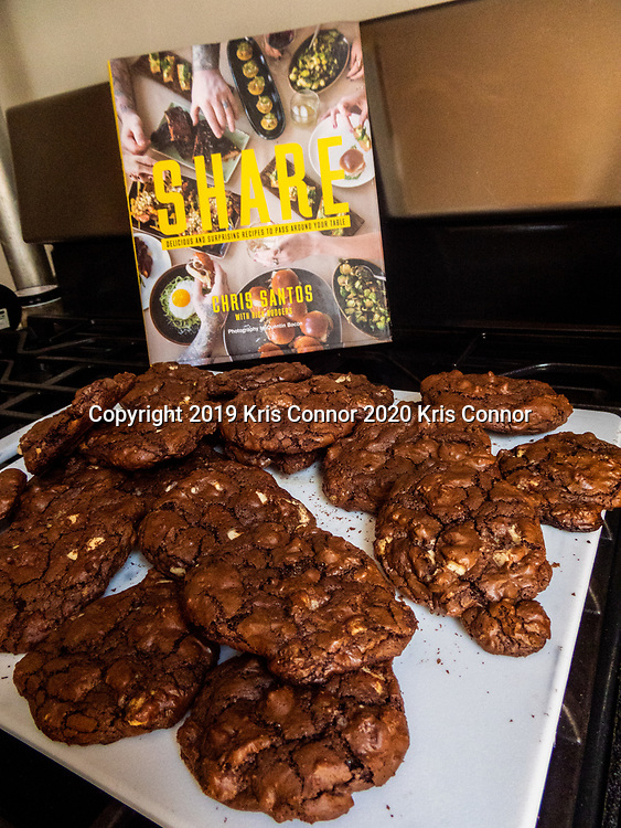 Celebrity Chef Chris Santos' Reverse chocolate chip cookies from his cookbook Share.