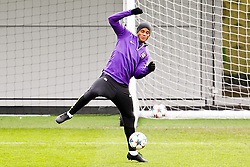 Vincent Kompany of Manchester City pictured training at the training session at The Etihad Campus ahead of the UEFA Champions League clash with FC Barcelona  - Photo mandatory by-line: Matt McNulty/JMP - Mobile: 07966 386802 - 23/02/2015 - SPORT - Football - Manchester - Etihad Stadium