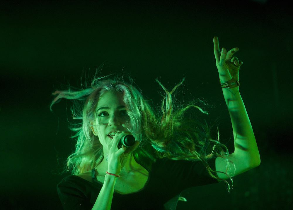 Grimes performs during the Governors Ball Music Festival on Randall's Island in New York, NY on June 6, 2014.