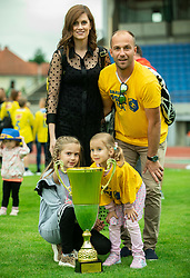 Rok Hanzic, assistant coach during celebration of NK Bravo, winning team in 2nd Slovenian Football League in season 2018/19 after they qualified to Prva Liga, on May 26th, 2019, in Stadium ZAK, Ljubljana, Slovenia. Photo by Vid Ponikvar / Sportida