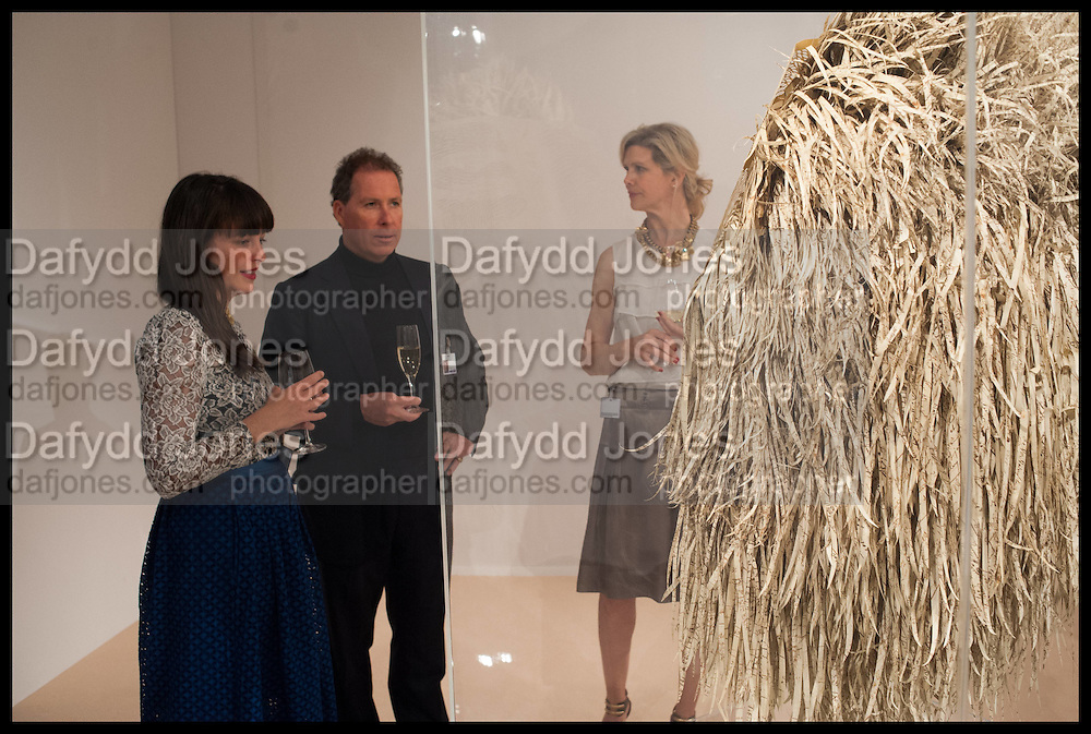 GEORGINA RUSSELL; VISCOUNT DAVID LINLEY; JULIE , Masterpiece London 2014 Preview. The Royal Hospital, Chelsea. London. 25 June 2014.