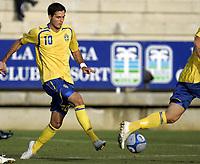 Fotball<br /> La Manga - Spania<br /> 27.03.2009<br /> U23 Sverige v Finland / Sweden v Finland 0-1<br /> Foto: Morten Olsen, Digitalsport<br /> <br /> Demi Avdic - SWE