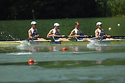 Lucerne, SWITZERLAND, GBR LM4-, Bow Richard CHAMBERS, James LINDSEY FYNN, Paul MATTICK and James CLARKE, competing at the 2007 FISA World Cup, Lucerne, on the Rotsee Lake, 13/07/2007  [Mandatory Credit Peter Spurrier/ Intersport Images] , Rowing Course, Lake Rottsee, Lucerne, SWITZERLAND.