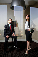 Thomas Lacombe, President, left,  and Flor Dimassi, CEO of Operations of Global Speak Translations, which provides translate services for oil and gas companies.
