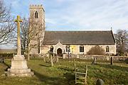 Village parish church and churchyard, Saint Mary, Hintlesham, Suffolk, England, UK