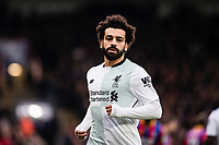 LONDON, ENGLAND - MARCH 31: (11) Mohamed Salah of Liverpool  during the Premier League match between Crystal Palace and Liverpool at Selhurst Park on March 31, 2018 in London, England.