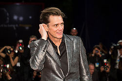 "Jim Carrey arriving to the premiere of ""Jim & Andy: the Great Beyond - the Story of Jim Carrey & Andy Kaufman with a Very Special, Contractually Obligated Mention of Tony Clifton"" as part of the 74th Venice International Film Festival (Mostra) in Venice, Italy on September 5, 2017. Photo by Marco Piovanotto/ABACAPRESS.COM"