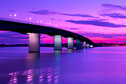 John Ringling Causeway is a bridge, named after Ringling of circus fame, crosses Sarasota Bay.