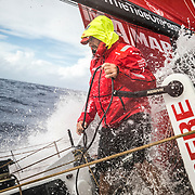Leg 4, Melbourne to Hong Kong, day 13 on board MAPFRE, Xabi Fernandez during a manuber. Photo by Ugo Fonolla/Volvo Ocean Race. 13 January, 2018.