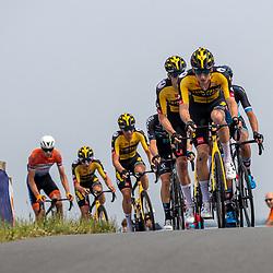 WIJSTER (NED) June 19: <br /> CYCLING <br /> Dutch Nationals Road U23 up and around the Col du VAM<br /> Leading group Mick van Dijke, <br /> Tim van Dijke,<br /> Hidde Van Veenendaal ,<br /> Joren Bloem,<br /> Lars Boven ,