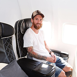 """Leo Messi releases a photo on Instagram with the following caption: """"\ud83d\udeeb"""". Photo Credit: Instagram *** No USA Distribution *** For Editorial Use Only *** Not to be Published in Books or Photo Books ***  Please note: Fees charged by the agency are for the agency's services only, and do not, nor are they intended to, convey to the user any ownership of Copyright or License in the material. The agency does not claim any ownership including but not limited to Copyright or License in the attached material. By publishing this material you expressly agree to indemnify and to hold the agency and its directors, shareholders and employees harmless from any loss, claims, damages, demands, expenses (including legal fees), or any causes of action or allegation against the agency arising out of or connected in any way with publication of the material."""