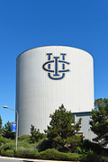 UCI logo on the Water Tower on the Campus of the University of California Irvine