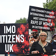 Nigerian continues to protest the genocide in Nigeria, London, U.K.