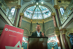 © Licensed to London News Pictures . 22/09/2019. Brighton, UK. SEB DANCE speaks at a fringe event by the Jewish Labour Movement at middle Street Brighton Synagogue, during the second day of the 2019 Labour Party Conference from the Brighton Centre . Photo credit: Joel Goodman/LNP