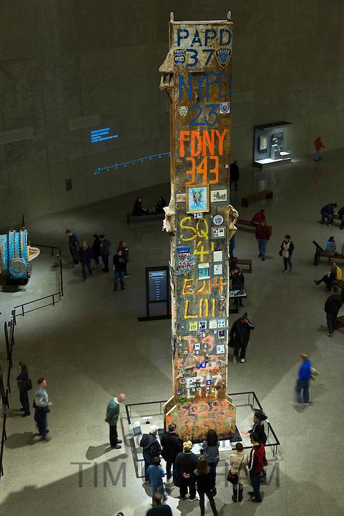 Signatures on last column taken from site, exhibit National September 11 Memorial Museum, The World Trade Center, New York USA