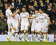 Tottenham's Benjamin Stambouli celebrates scoring his sides opening goal<br /> <br /> Europa League Group C- Tottenham vs Partizan Belgrade - White Hart Lane - England - 27th November 2014 - Picture David Klein/Sportimage