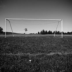 A soccer field in Ipswich, Massachusetts.