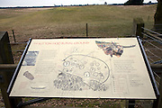 Information board Sutton Hoo Anglo Saxon burial ground, Suffolk