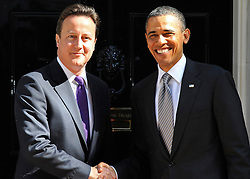 © under license to London News Pictures. 25/05/11. President Obama meets with UK Prime Minister at 10 Downing Street on his visit to London. Photo credit should read THEO WOOD/LNP