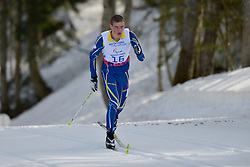 REPTYUKH Ihor competing in the Nordic Skiing XC Long Distance at the 2014 Sochi Winter Paralympic Games, Russia
