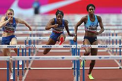 July 21, 2017 - Monaco, Monaco - Kendra Harrison of USA uns to win the 100m hurdles of the IAAF Diamond League Herculis meeting at the Stade Louis II in Monaco on July 17, 2017. (Credit Image: © Manuel Blondeau via ZUMA Wire)