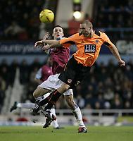 Fotball<br /> England 2004/2005<br /> Foto: SBI/Digitalsport<br /> NORWAY ONLY<br /> <br /> Coca Cola Championship<br /> 03/01/2005<br /> <br /> West Ham v Sheffield United<br /> <br /> Gavin Williams and Danny Cullip