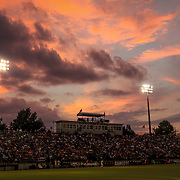 Stone Stadium is seen at sunset during a Gamecock men's soccer game. ©Travis Bell Photography