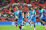 Radamel Falcao (Rayo Vallecano) scores (1-2)<br /> <br /> La Liga round 6 2021 september 21th San Mames estadium<br /> Bibao Basque coutry Spain Bizkaia<br /> <br /> Atheltic Ckub de Bilbao Rayo Vallecano
