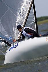 Medemblik - the Netherlands, May 31th 2009. Delta Lloyd Regatta in Medemblik (27/31 May 2009). Day 5, Medal races. Pieter Jan Postma