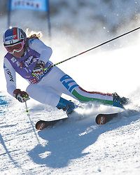 22.10.2011, Rettenbachferner, Soelden, AUT, FIS World Cup Ski Alpin, Damen, Riesenslalom, im Bild Manuela Moelgg (ITA) // during Ladies ginat Slalom at FIS Worldcup Ski Alpin at the Rettenbachferner in Solden on 22/10/2011. EXPA Pictures © 2011, PhotoCredit: EXPA/ Johann Groder
