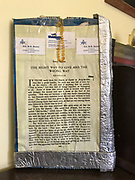 12x18in double sided prayer sheets hanging wall art from inside grocery- glued on box top <br />