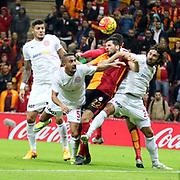 Galatasaray's Hakan Balta (M) during their Turkish Super League soccer match Galatasaray between Antalyaspor at the AliSamiYen Spor Kompleksi TT Arena at Seyrantepe in Istanbul Turkey on Saturday, 21 November 2015. Photo by Kurtulus YILMAZ/TURKPIX