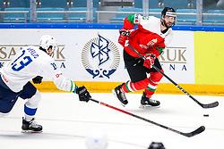 Miha Verlic of Slovenia vs Balint Magosi of Hungary during ice hockey match between Hunngary and Kazakhstan at IIHF World Championship DIV. I Group A Kazakhstan 2019, on May 3, 2019 in Barys Arena, Nur-Sultan, Kazakhstan. Photo by Matic Klansek Velej / Sportida
