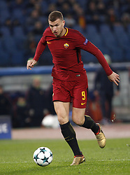 December 5, 2017 - Rome, Italy - Roma s Edin Dzeko during the Champions League Group C soccer match between Roma and Qarabag at the Olympic stadium. Roma won 1-0 to reach the round of 16. (Credit Image: © Riccardo De Luca/Pacific Press via ZUMA Wire)