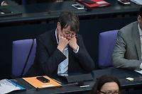 17 FEB 2016, BERLIN/GERMANY:<br /> Barbara Hendricks, SPD, Bundesumweltministerin, Plenum, Deutscher Bundestag<br /> IMAGE: 20160217-03-015<br /> KEYWORDS: Debatte, nachdenklich